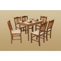 Szilvána étkezőgarnitúra - Miki asztal + 6 szék - gazdag színválaszték