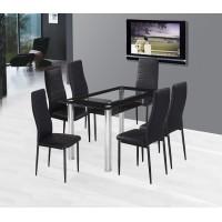 Sarolta üveg étkező garnitúra 4 székkel