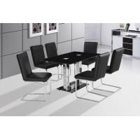 Walti üveg étkező garnitúra 4 króm székkel