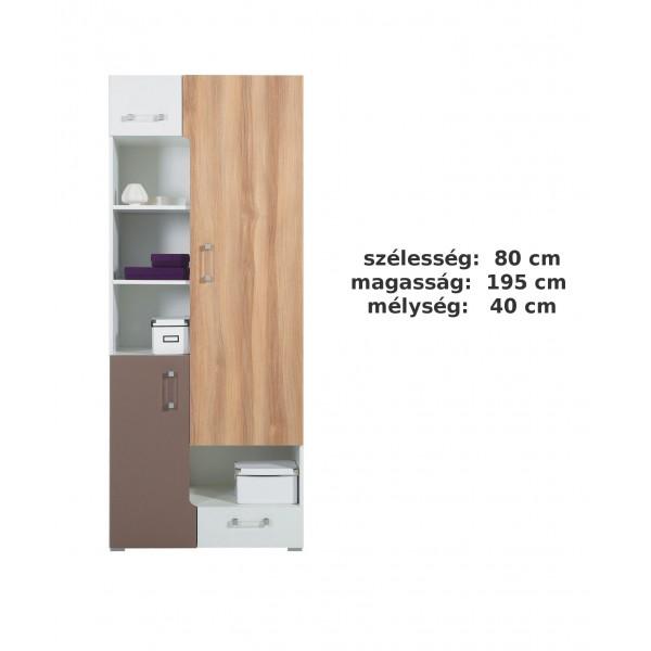 Bodor SYSTEM  ELEM - Bd5 polcos szekrény
