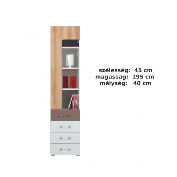 Bodor SYSTEM  ELEM - Bd7 polcos-fiókos szekrény