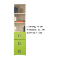 Lavina LA5 - polcos+fiókos szekrény RAKTÁRON