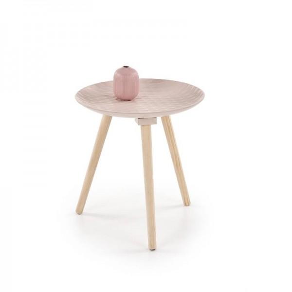 Bini világos rózssaszín dohányzóasztal