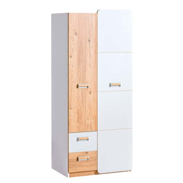 Ego 1 - akasztós szekrény (fehér-nash tölgy)