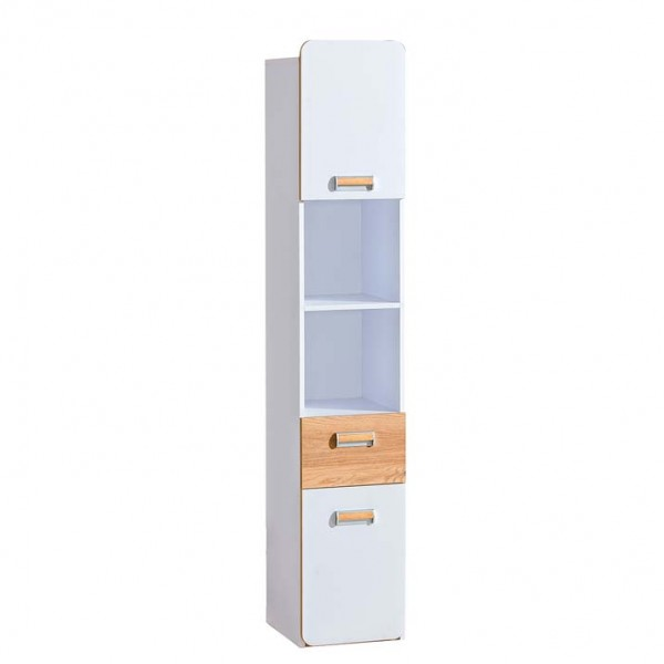 Ego 3 - polcos szekrény (fehér-nash tölgy)