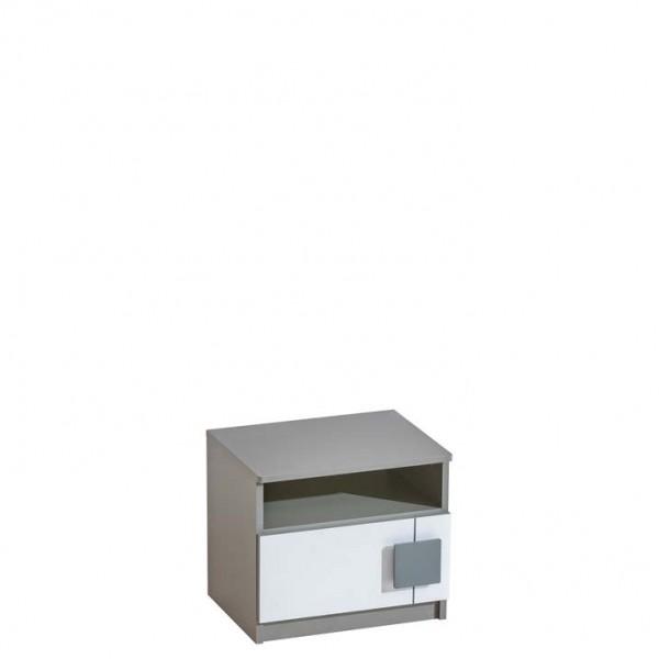Gusztin 12 - éjjeli szekrény (fehér-antracit)