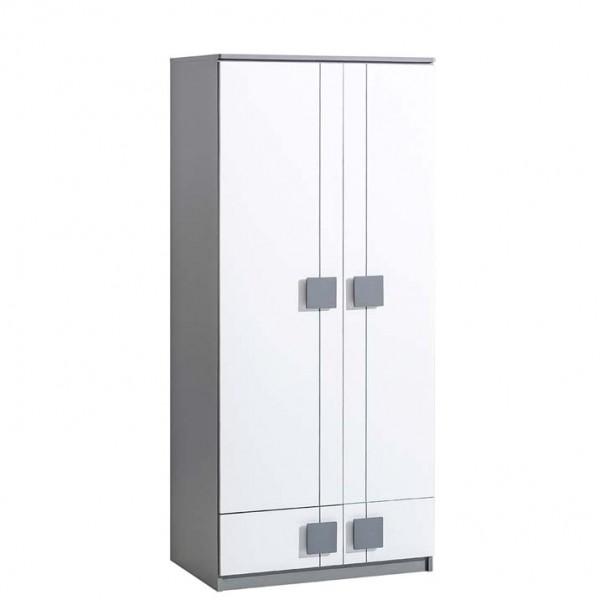 Gusztin 1 - akasztós szekrény (fehér-antracit)