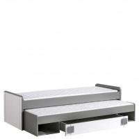 Gusztin 16 - dupla ágy (fehér-antracit)