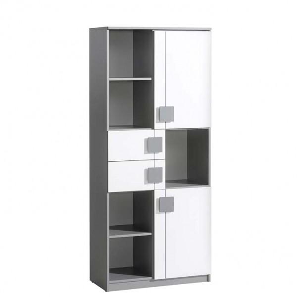 Gusztin 2 - szekrény (fehér-antracit)