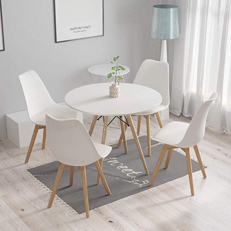 Eiffel stílusú étkezőasztal 4 db Svéd székkel