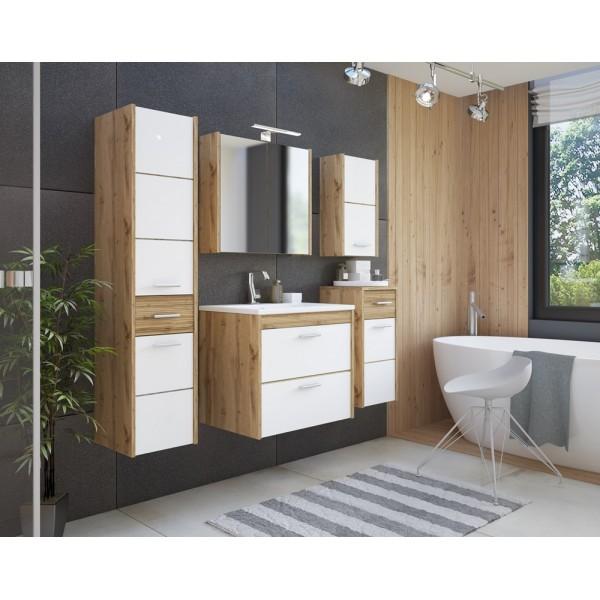 Istria fehér modern fürdőszoba bútor (elemenként is)