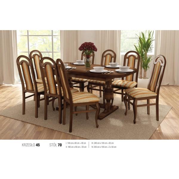 s70 k45 komplett étkező asztal (több méret)